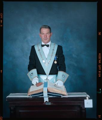 Negative: Unnamed Man Freemason