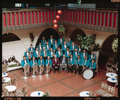 Negative: Woolston Working Men's Club Silver Band 1991