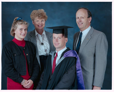 Negative: Paul Wharton Graduate And Family