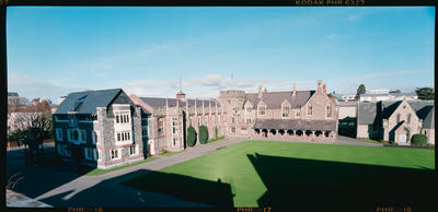 Negative: Christ's College Dining Hall Exterior
