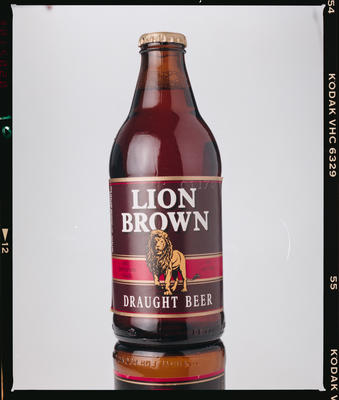 Negative: NZ Breweries Lion Brown Draught Beer Bottle