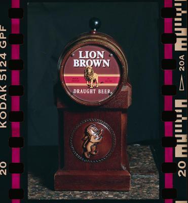 Negative: Lion Brown Draught Beer Tap