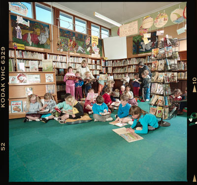 Negative: Bishopdale School Children In Library