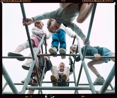 Negative: Bishopdale School Children On Playground