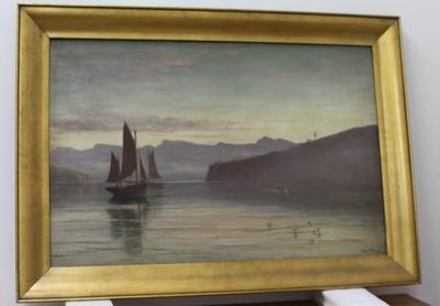 Oil Painting: Evening, Lyttelton Harbour