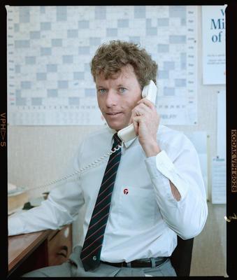 Negative: Trust Bank Man On Telephone