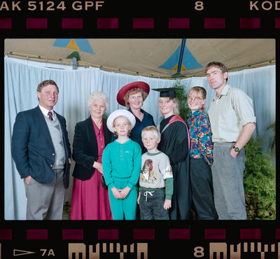 Negative: Unnamed Woman Graduate And Family 1991