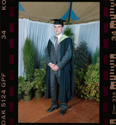 Negative: Unnamed Man Graduate 1991