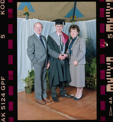 Negative: Unnamed Man Graduate And Family 1991
