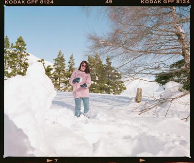 Negative: Delwyn In The Snow