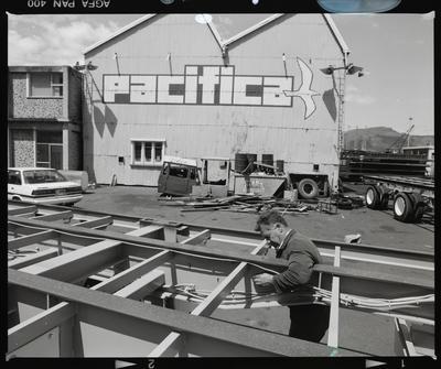 Negative: Man At Pacifica Shipping