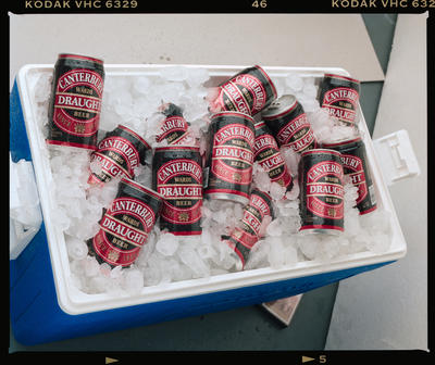 Negative: Canterbury Draught Beer Cans