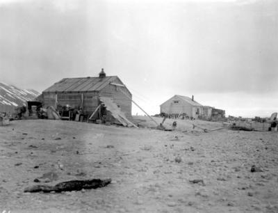 Photograph: Campbells Hut at Cape Adare