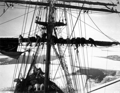 Photograph: Furling the Foresail