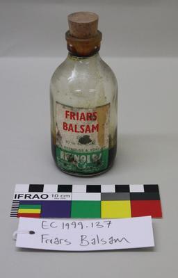 Bottle: Friars Balsam