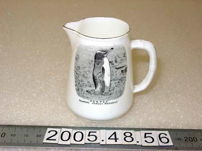 Cream jug, souvenir: Pompey the Penguin