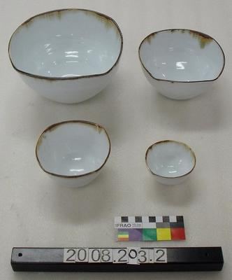 'Nest of Four Squared Bowls'