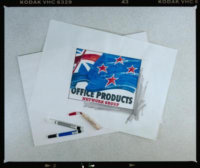 Negative: Top Mark Design Flag Drawing