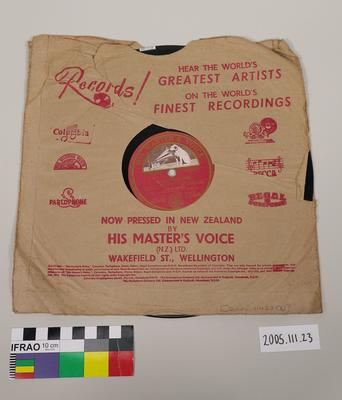 His Master's Voice Record: with Sleeve