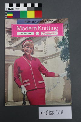 "magazine, knitting pattern: ""Modern Knitting - The Monthly Magazine for Machine Knitters"", Sept/Oct 1964 (NZ edition)"