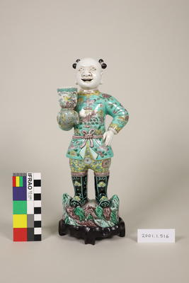 Figure of man with stand