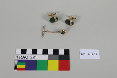 Tie pin and cuff links
