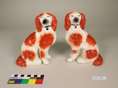 King Charles Spaniel figurine pair