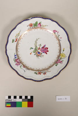 Plate; Mid 18th Century-Late 18th Century; 2001.1.31