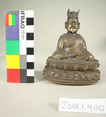 Bronze bearded monk figurine