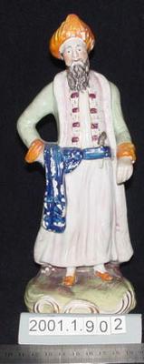 Figurine of a turbaned man