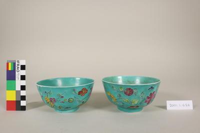 Bowls, rice, pair