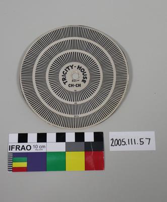 Tricity Speed Indicator: Cardboard