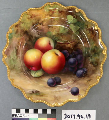 Plate: Royal Worcester with Fruit Decoration Signed by H H Price