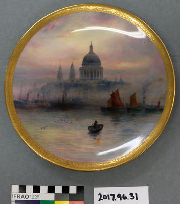 Plate: Royal Worcester with Scene of St Pauls from River