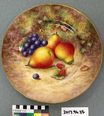 Plate: Royal Worcester, Fruit