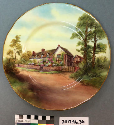 Plate: Royal Worcester, Mary Arden's House