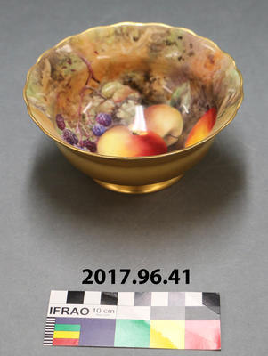 Bowl: Royal Worcester Painted with Fruit