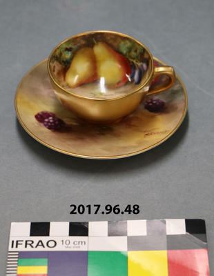 Cup and Saucer: Royal Worcester