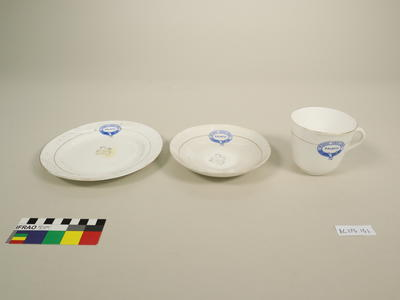 Cup, Saucer, and Plate