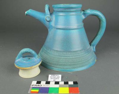 Teapot: Blue Ceramic; 1991;