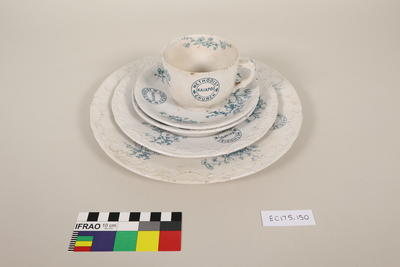 Plates (1 dinner), saucers and cup