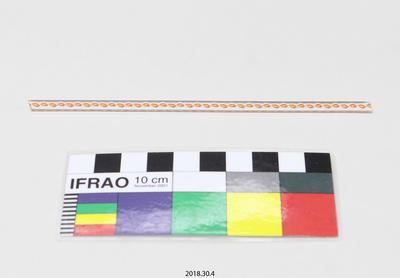 Glass Cane: Orange and White Twists