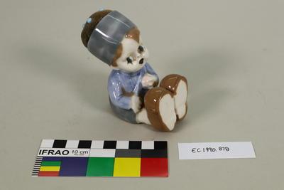 Ceramic boy pincushion