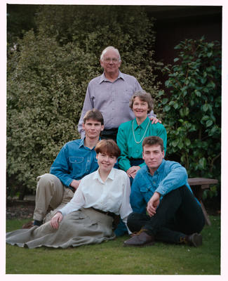 Negative: Coleman Family Portrait