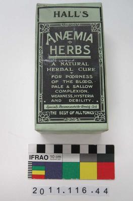 Herbal Medicine: Hall's Anaemia Herbs