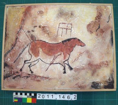 Cast: Palaeolithic rock art