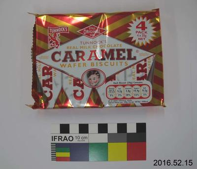 Packet: Real Milk Chocolate Caramel Wafer Biscuits