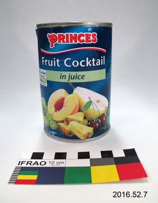 Tin: Fruit Cocktail in Juice; Pre 2016; ; 2016.52.7