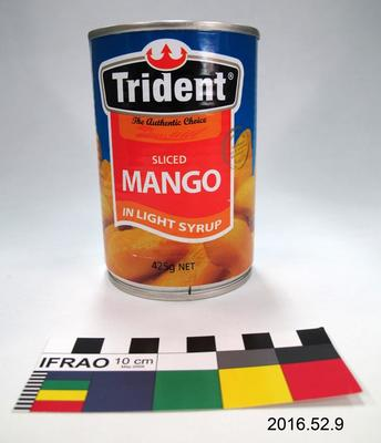 Tin: Sliced Mango in Light Syrup; Pre 2016; ; 2016.52.9