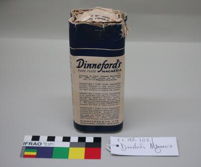 Bottle: Dinneford's Pure Fluid Magnesia